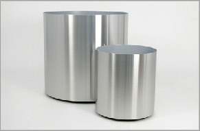 Large stainless steel plant container